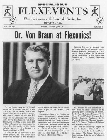Dr. Van Braun at Flexonics Saturn 5